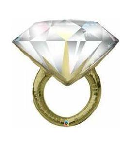 Palloncino mylar Diamond Wedding Ring 37 pollici - Matrimonio