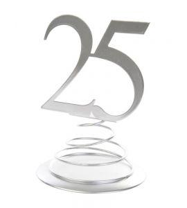 Cake topper 25 anni metal silver