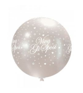 Pallone in lattice mongolfiera trasparente viva gli sposi