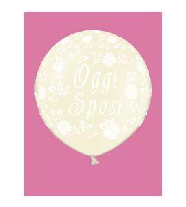 Pallone mongolfiera oggi sposi 1m