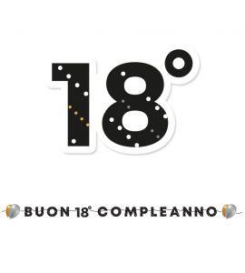 """Festone maxi """"buon 18° compleanno"""" prestige 6mt"""