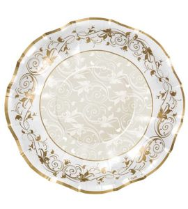 Piatto prestige oro 10 piatti 24cm