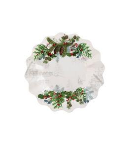 Piatti 8 Pz. Winter Holidays 21 cm. - Natale