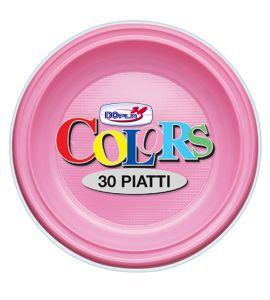 Piatto Fondo Rosa 30pz - Colors