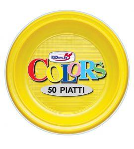 Piatto Frutta Giallo 50pz - Colors