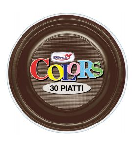 Piatto Fondo Chocolate 30pz - Colors