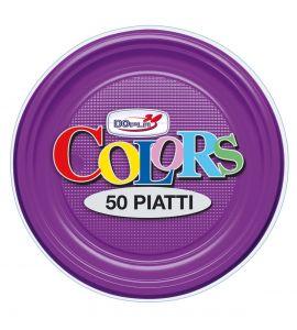 Piatto Frutta Viola 50pz - Colors