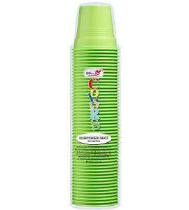 Colors Bicchiere Shot 80cc Verde Acido 50pz