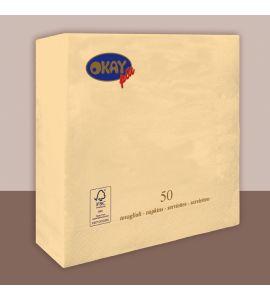 Tovaglioli colorati 2veli 33x33 conf da 50pz - CHAMPAGNE