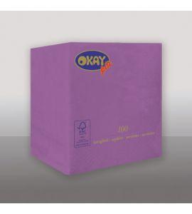Tovaglioli OKAY Violett (Viola) 25x25cm 100pz