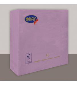 Tovaglioli colorati 2veli 33x33 conf da 50pz - LILLA