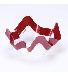 Contenitore pet rosso perlato 22.5X12cm