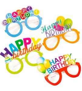 Occhiale happy birthday 6 pz