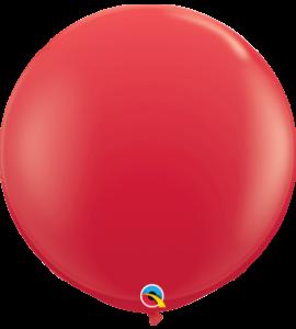Palloncini in lattice 36rnd rosso 2pz1