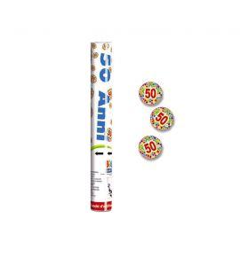 Party cannon  30cm 50 anni stardust