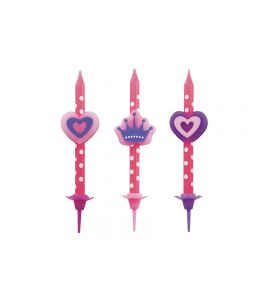 CANDELINE BUON COMPLEANNO GIRLS -3PZ