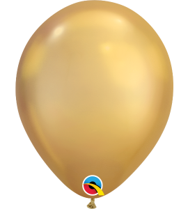 Palloncini in lattice 11rnd chrome gold 100pz