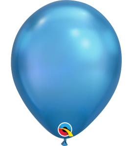Palloncini in lattice 11rnd chrome blue 100pz