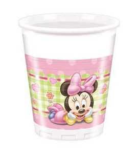 Baby Minnie Bicchiere  200ml 8pz