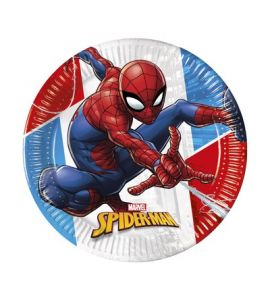 Piatti compostabili Spiderman 20cm 8pz
