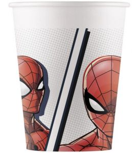 Bicchieri compostabili Spiderman 200ml 8pz