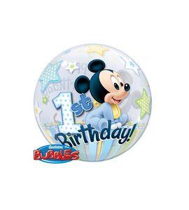 Pallone bubble mini topolino primo compleanno 22 pollici