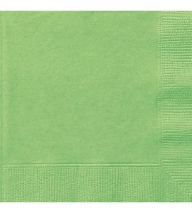 Tovaglioli Unique Verde Lime (Lime Green) 33x33cm 20pz