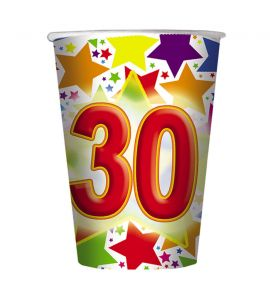 30 Anni Bicchiere 200cc 10pz