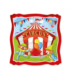 PIATTO CIRCUS PARTY 19x19 8pz