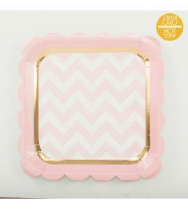 Piatti baby chic rosa 8 piatti 23cm
