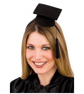 Mini cappello laureato in feltro con cerchietto