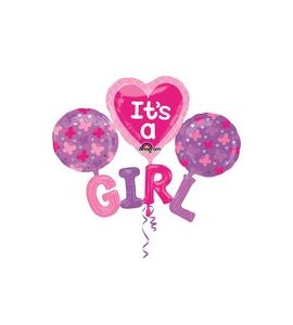 "Mylar multi balloon ""it's a girl"" 51X40 pollici"