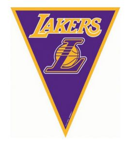 Bandierine LA Lakers basket 3,65mt
