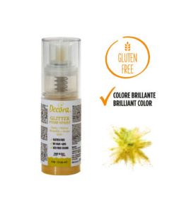 Spray Decora Glitterato Giallo