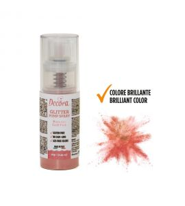 Spray Decora Glitterato Rosa Gold