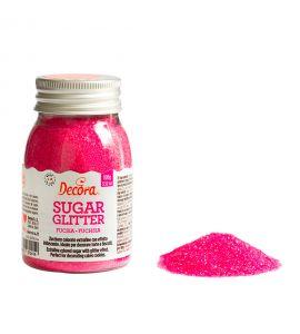 Zucchero Glitterato Decora Fucsia 100g