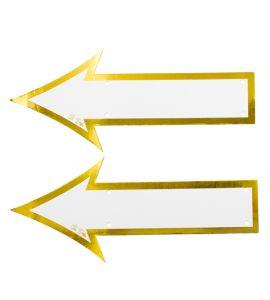 Frecce indicazioni bianco e oro 2pz