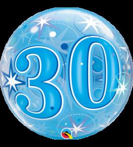 Bubble Qualatex starburst 30 blu 22 pollici