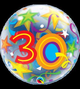 Bubble Qualatex 30 star 22 pollici