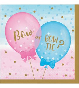 Gender Reveal 16 tovaglioli 33x33 cm. - Baby Shower
