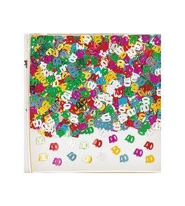 Confetti da tavolo multicolor 40 anni
