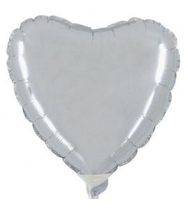 Cuore mylar argento mini shape 9 pollici