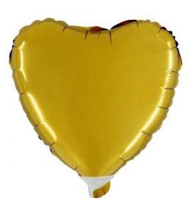 Cuore mylar oro mini shape 9 pollici