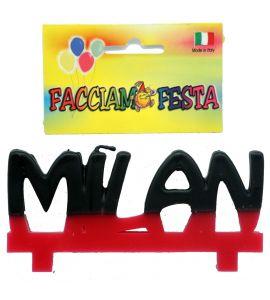 """Candela Media Targhetta Calcio """"Facciamo Festa"""" Milan"""