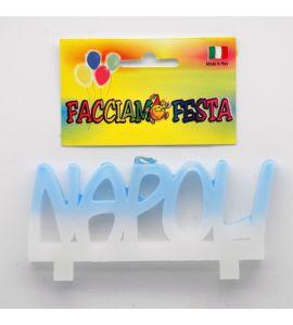 """Candela Media Targhetta Calcio """"Facciamo Festa"""" Napoli"""
