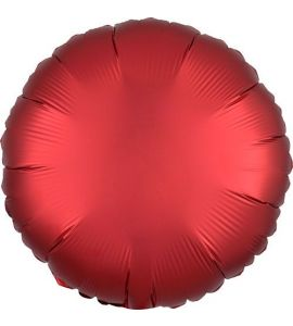 Tondo mylar rosso sangria satin luxe 18 pollici