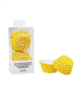 Pirottini Rigidi Decora Pois Giallo 12pz