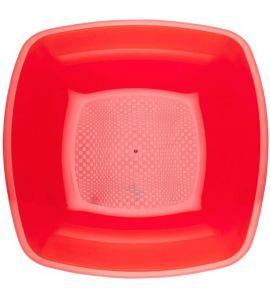 Piatti piani square collection rossi 180mm 25pz