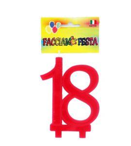 """Candela Media Accoppiata """"Facciamo Festa"""" Rosso n° 18"""
