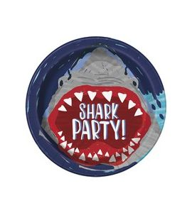 Piatti Shark party 8pz 22cm